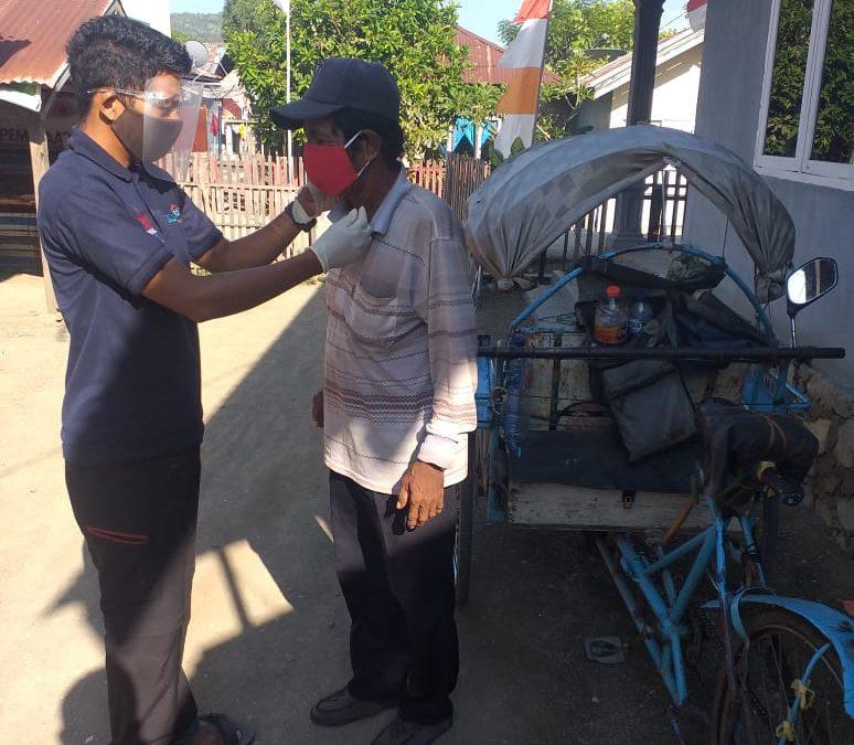 YPI, CRS, dan Kelompok PRB Bagikan Ribuan Masker