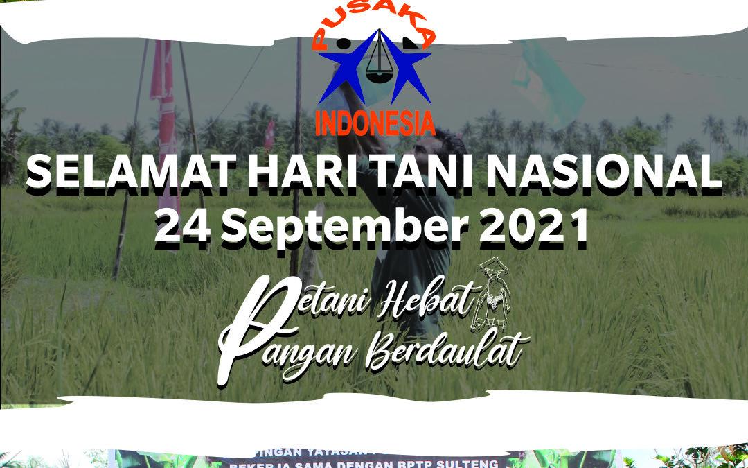 Selamat Hari Tani Nasional 24 September 2021